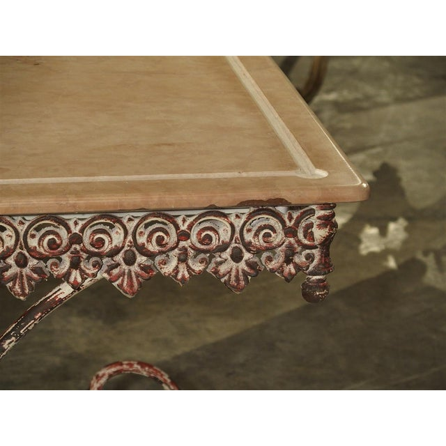 White French Iron and Marble Pastry Table For Sale - Image 8 of 13