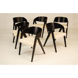 Mid Century Allan Gould Compass Dining Chairs - Set of 6 Preview
