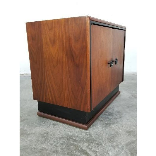 Mid-Century Brown Saltman Night Stand For Sale - Image 10 of 13