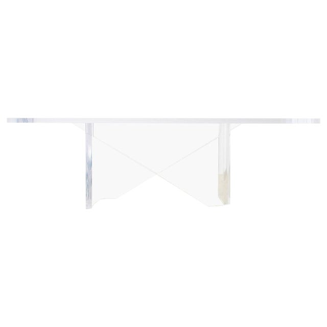 Monumental Italian Moderne Sculptural Lucite Dining Table For Sale
