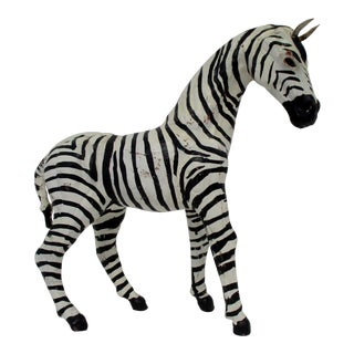 Papier-Mâché Zebra For Sale