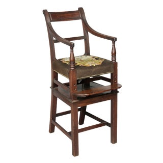 Regency Mahogany Childs High Chair For Sale