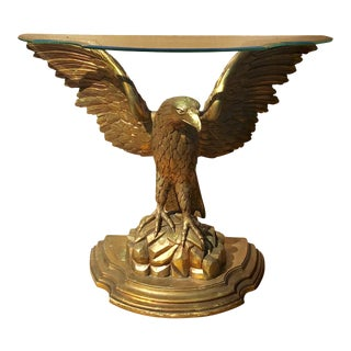 Early 20th Century Carved Giltwood Eagle Console For Sale