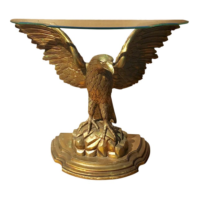 Early 20th Century Carved Giltwood Eagle Console - Image 1 of 6