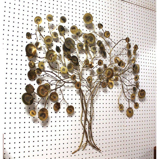 Mid-Century Modern Curtis Jere Tree of Life Wall Sculpture For Sale - Image 3 of 7
