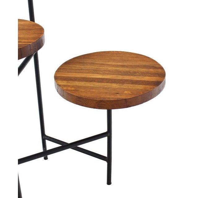 Early 20th Century Tri Leg Three-Tier Side Display Table Planter For Sale - Image 5 of 8