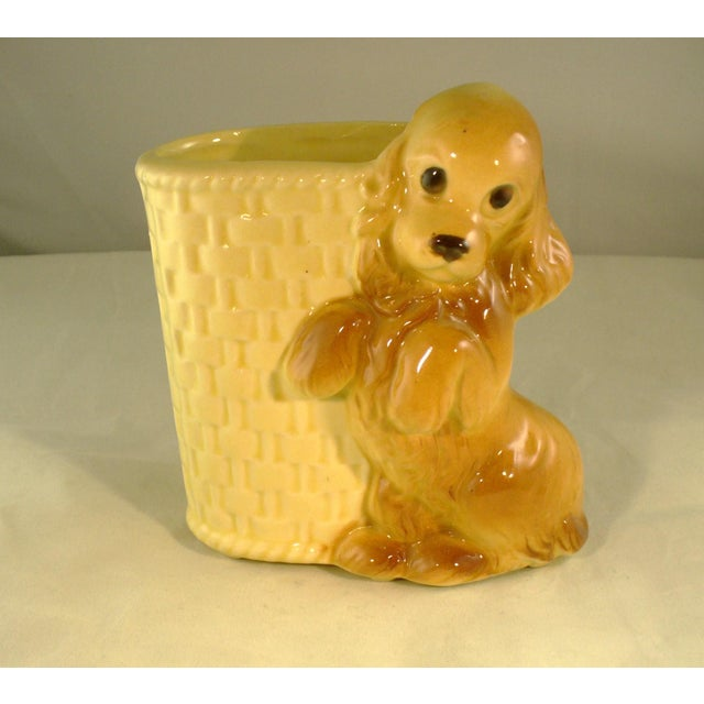 Vintage Mid-Century Ceramic Dog Planter - Image 2 of 6