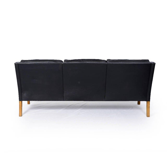 Børge Mogensen Model #2209 Three-Seat Leather Sofa - Image 6 of 8