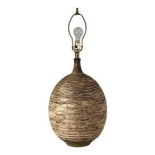Mid Century Lee Rosen Textured Table Lamp for Design Technics For Sale