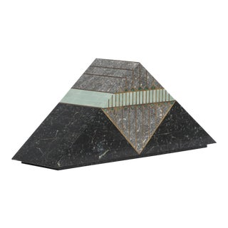 A Casa Bique designed Tessellated Stone Pyramid Box 1980s For Sale