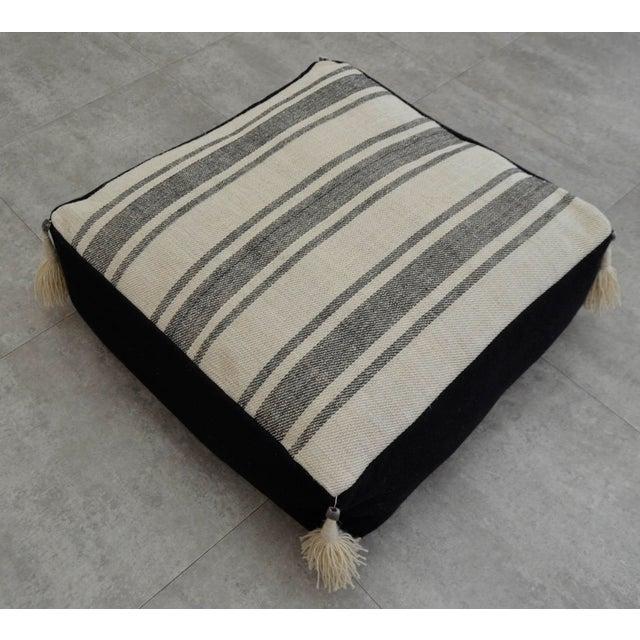Turkish Handmade Kilim Floor Cushion For Sale - Image 4 of 7