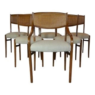 Mid-Century Dining Chair S/6 For Sale