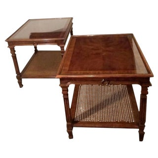 20th Century Traditional Drexel Heritage Side Tables - a Pair For Sale