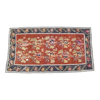 "Turkish Kilim Rug, 7'6"" X 4' For Sale"