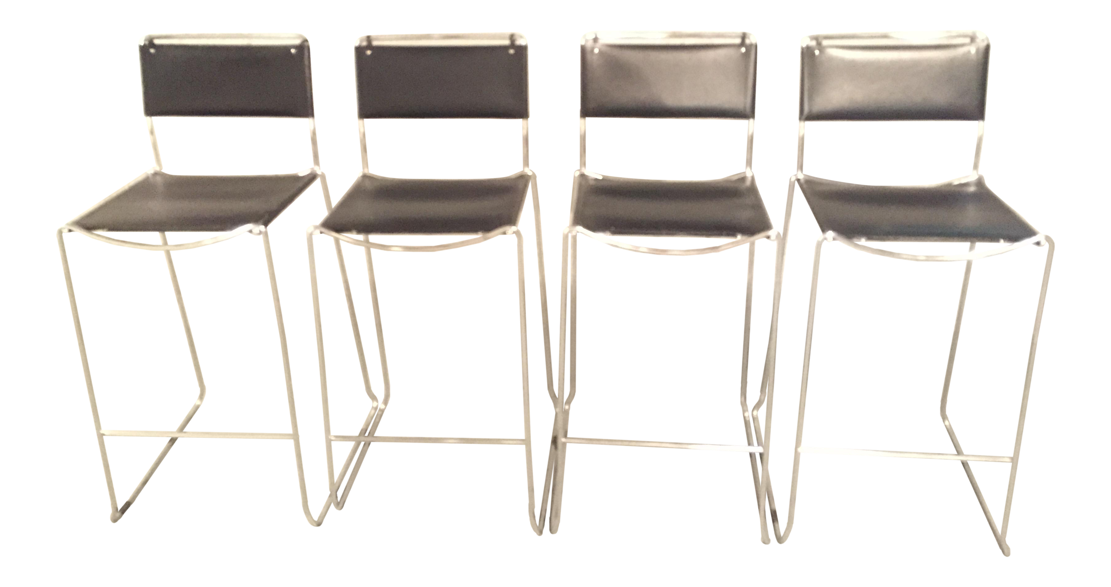 Surprising Design Within Reach Italian Leather Chrome Bar Stools Set Of 4 Camellatalisay Diy Chair Ideas Camellatalisaycom