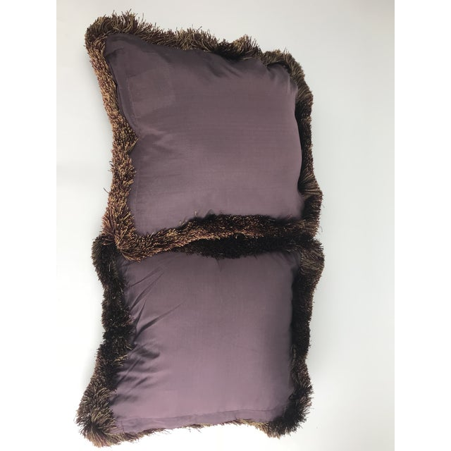 Baroque Modern Embroidered Velvet Pillows - A Pair For Sale - Image 3 of 6