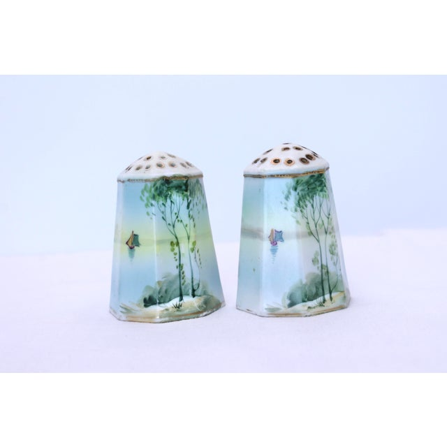 Vintage Hand Painted Nippon Salt & Pepper Shakers - a Pair For Sale - Image 10 of 10