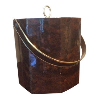 20th Century Hollywood Regency Vinyl Ice Bucket For Sale