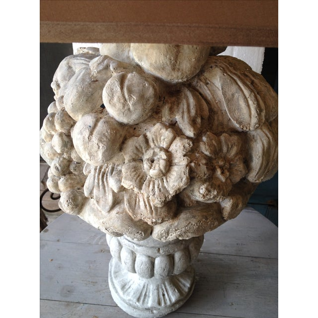 Heavy Plaster Fruit Table Lamp - Image 4 of 6