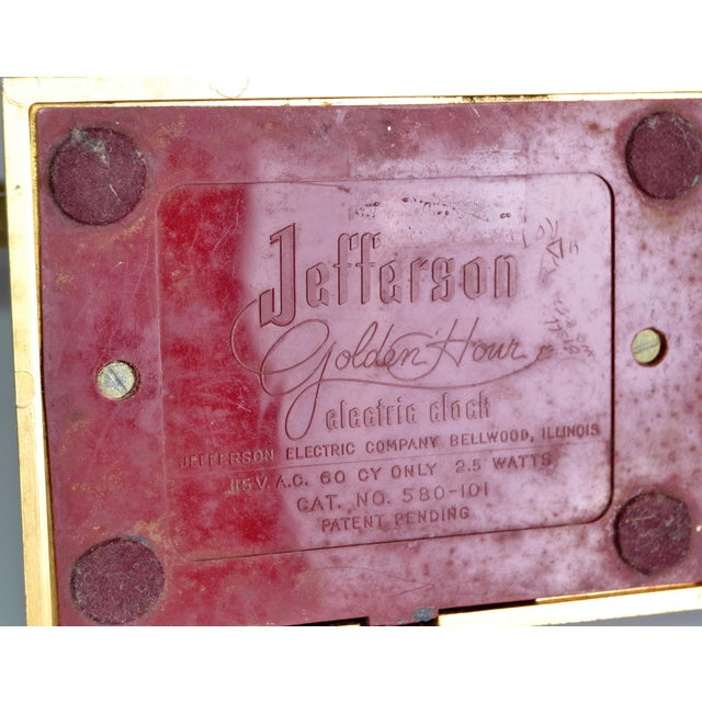 Jefferson Golden Hour Electric Clock For Sale - Image 5 of 7