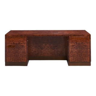 Pace Burl Wood Executive Desk, 1970 For Sale