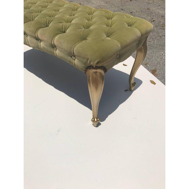 1900s French 19th Century Louis XV Benches With Green Velvet. For Sale - Image 5 of 13