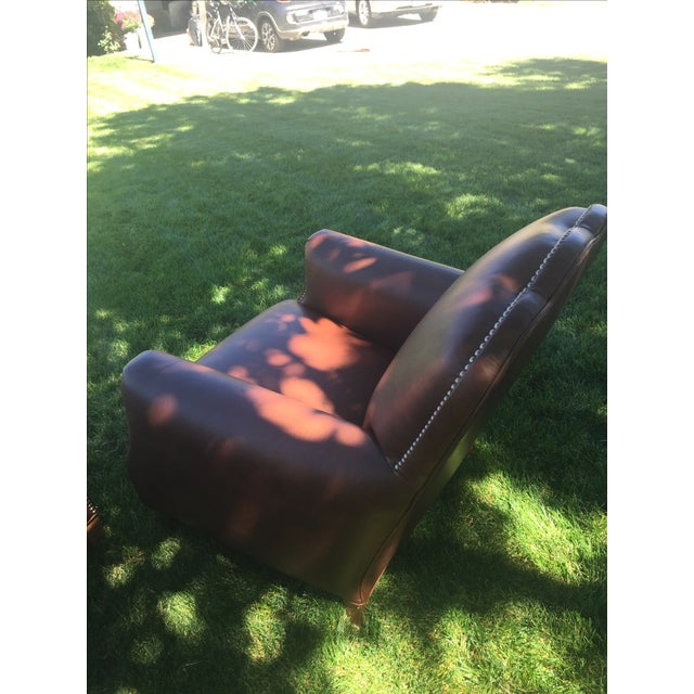 Distressed Leather Chairs - A Pair For Sale - Image 10 of 11