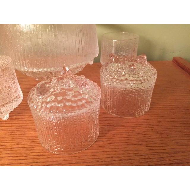 Mid-Century Modern Tapio Wirkkala Iittala Ultima Thule Glass Set For Sale - Image 3 of 11