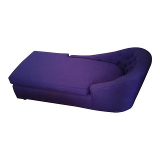 1970s Contemporary Refinished Eggplant Chaise For Sale