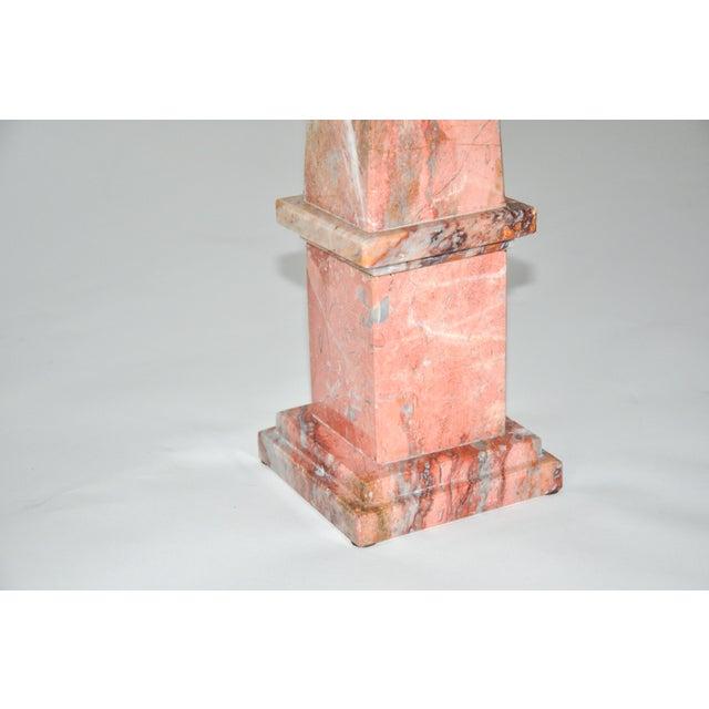 Pink Marble Obelisk For Sale - Image 4 of 5