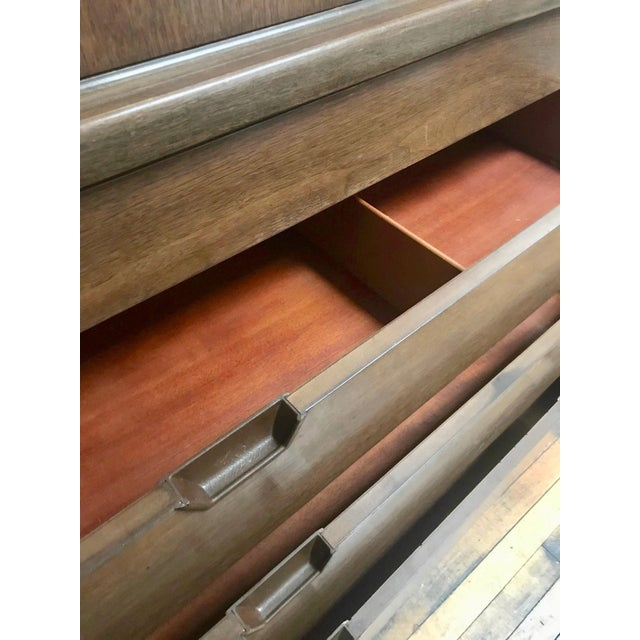 Mid-Century Modern Mid Century Modern Walnut Tall Chest-1960's For Sale - Image 3 of 7