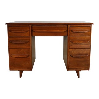 Small Walnut Writing Desk in the Manner of Heywood Wakefield