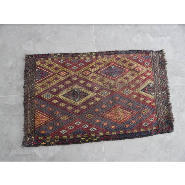 Turkish Handwoven Anatolian Turkish Oushak Braided Kilim Rug For Sale - Image 3 of 8