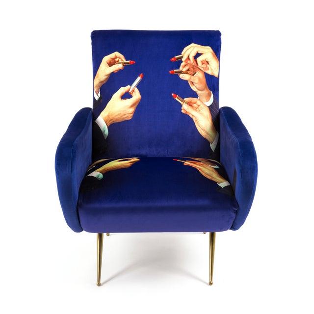 Textile Seletti, Lipsticks Armchair, Blue, Toiletpaper, 2018 For Sale - Image 7 of 7