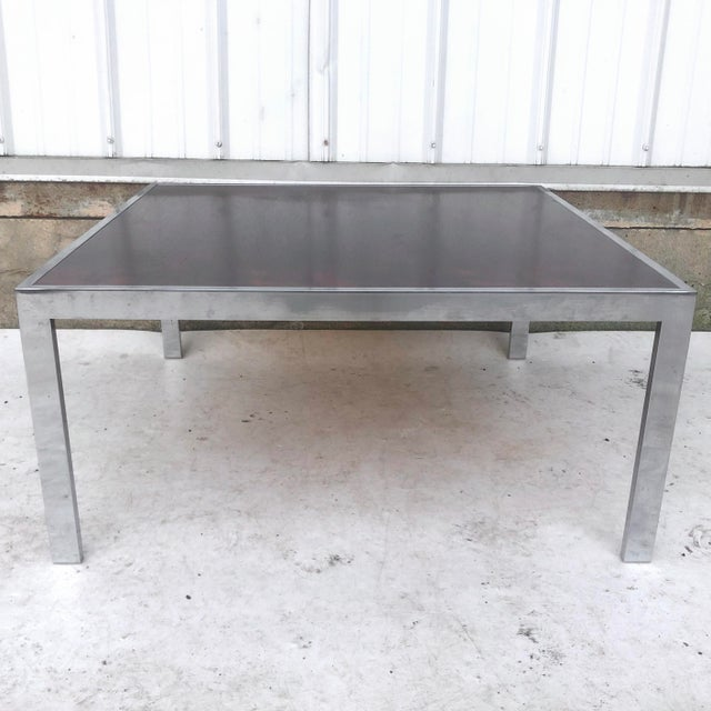 Vintage Modern Rosewood and Chrome Coffee Table For Sale - Image 13 of 13