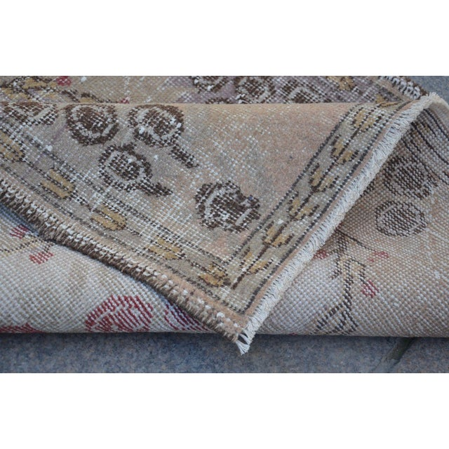 Turkish Overdyed Floor Rug- 2′11″ × 5′9″ For Sale In Austin - Image 6 of 6