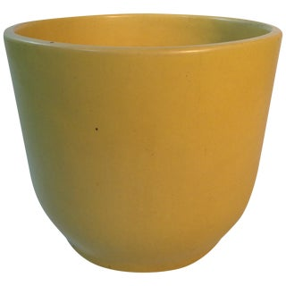 Pastel Yellow Gainey Ceramics Planter For Sale
