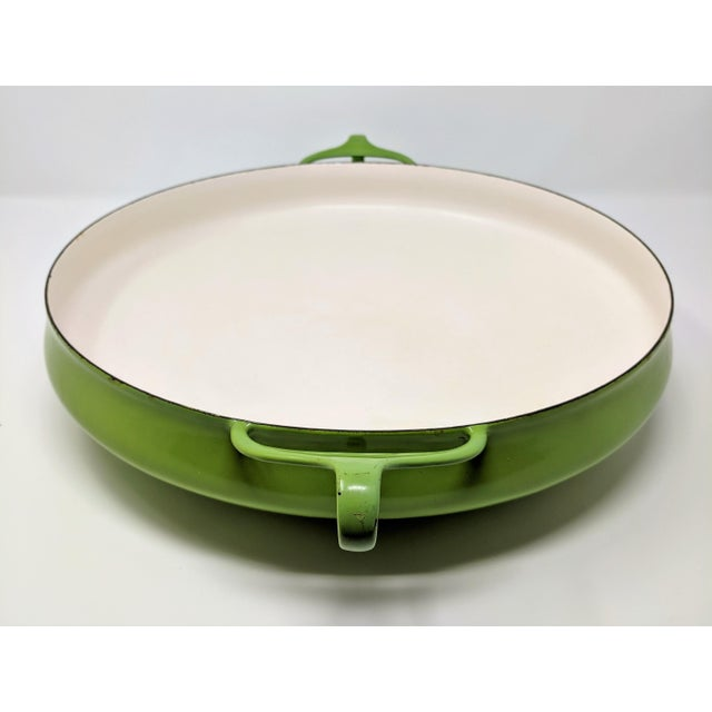 Green 1955 Danish Modern Jens Quistgaard Dansk Ihq Kobenstyle Lime Green Paella Pan For Sale - Image 8 of 8