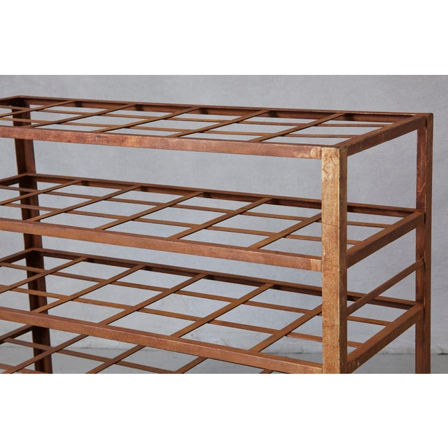 Industrial 5 Tier Shelf With Grid Shelves for Books or Usage as Seedling Planter For Sale - Image 9 of 11