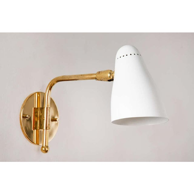 White 1950s Giuseppe Ostuni Articulating Arm Sconces for O-Luce - a Pair For Sale - Image 8 of 13
