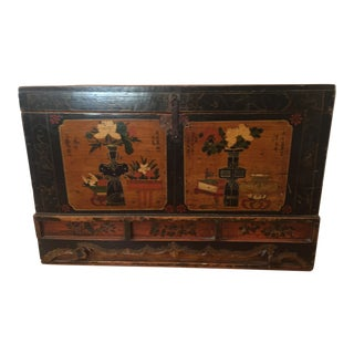 Antique Tibetan Trunk For Sale