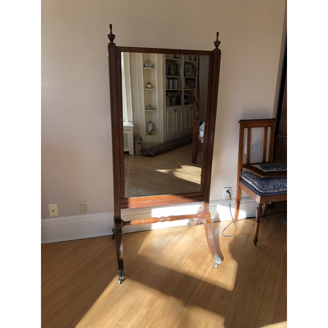 1810s Federal Cheval Floor Mirror For Sale - Image 10 of 10