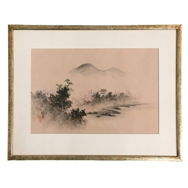 Vintage Framed Asian Silk Painting - Image 6 of 6