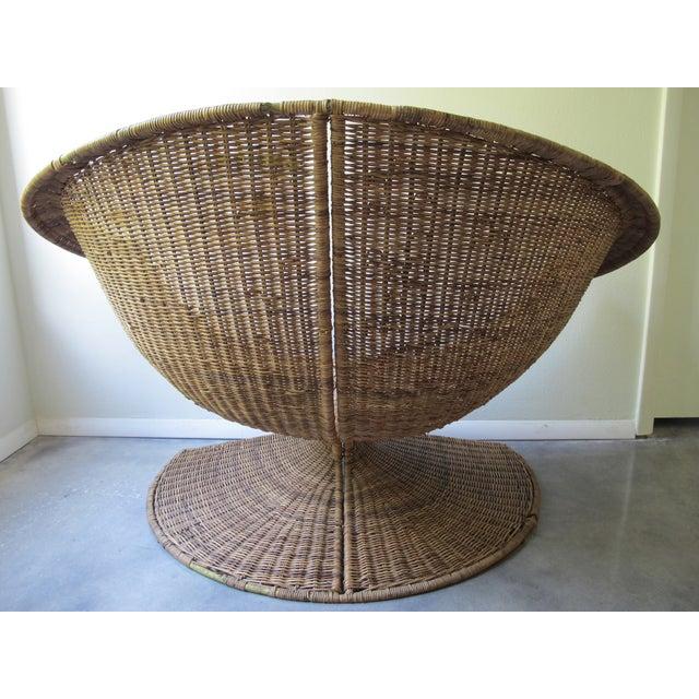 Miller Yee Fong Lotus Chair: 1960s Wicker Lounge - Image 5 of 11
