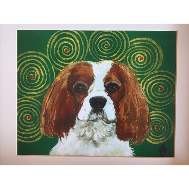 King Charles Spaniel Dog Print by Judy Henn Framed - Image 3 of 5