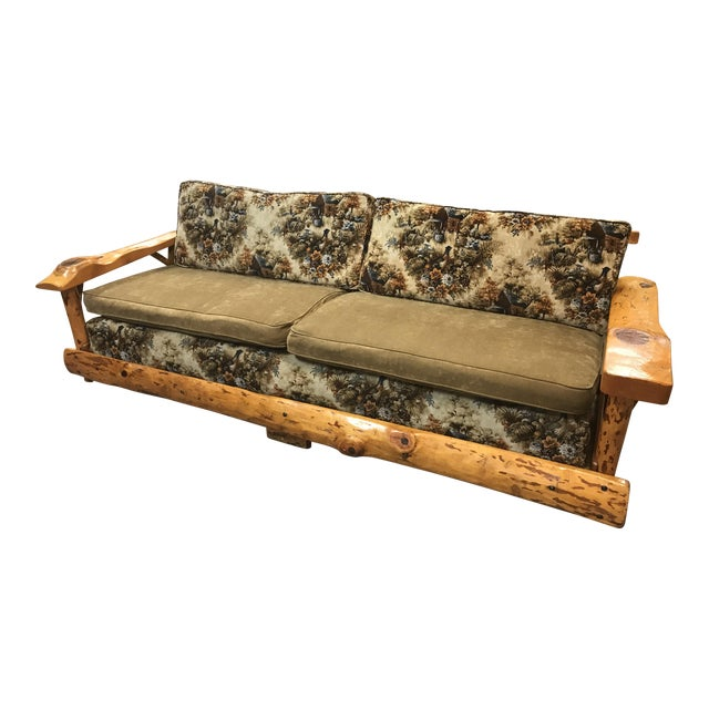 C. Selden Belden Pinecraft Furniture Lodge Style Sofa For Sale