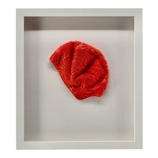 1970s Vintage Orange Womens Swim Cap For Sale