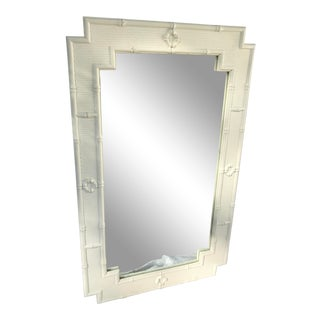 Hollywood Regency Bamboo Cane Wall Mirror
