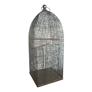 Mid Century Modern Brutalist Parrot Cage