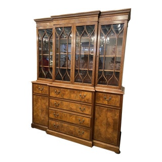 Vintage Mahogany Breakfront With Butlers Desk For Sale